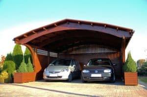 wiata garażowa dwustanowiskowa